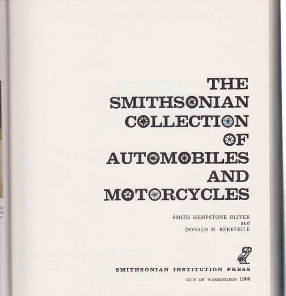 The Smithsonian Collection Of Automobiles And Motorcycles