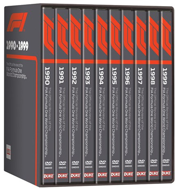 F1 1990 - 1999 - The Official Reviews of the FIA Formula One World Championship 10 DVD Box Set (Copy of 5017559131531)