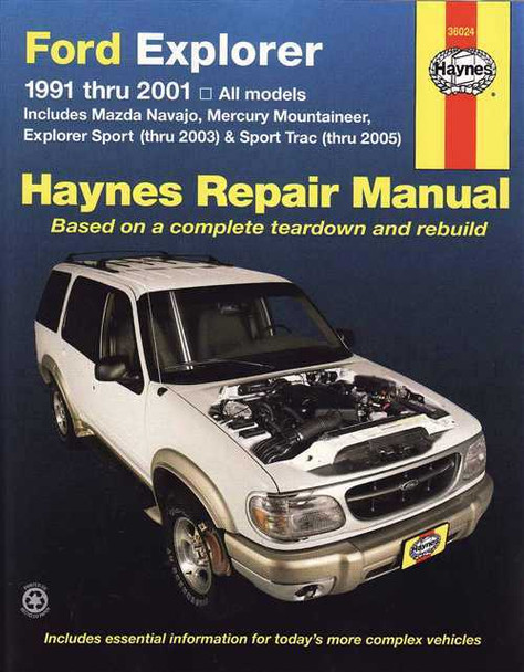 Ford Explorer 1991 - 2001 Workshop Manual
