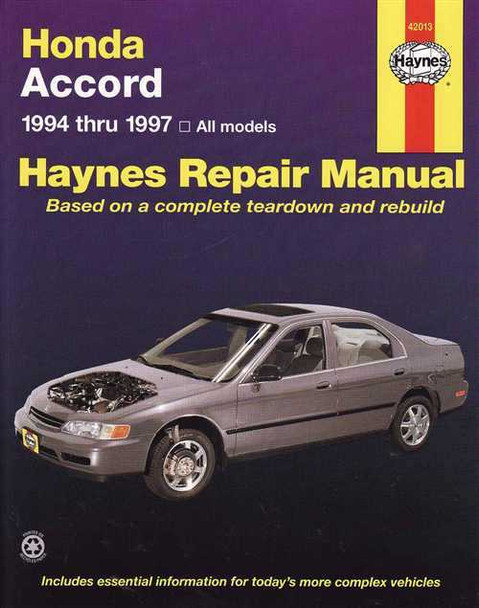 Honda Accord 1994 - 1997 Workshop Manual