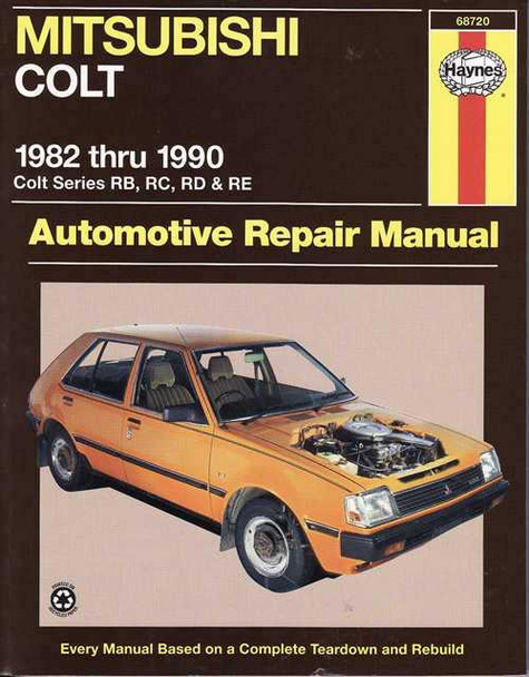 Mitsubishi Colt 1982 - 1990 Workshop Manual