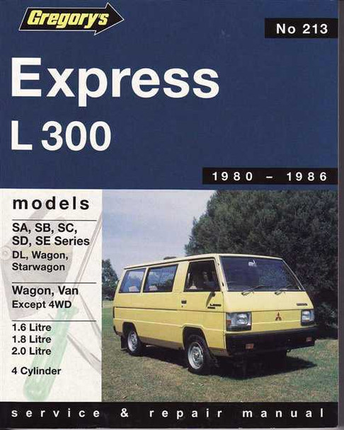 Mitsubishi Express L300 1980 - 1986 Workshop Manual