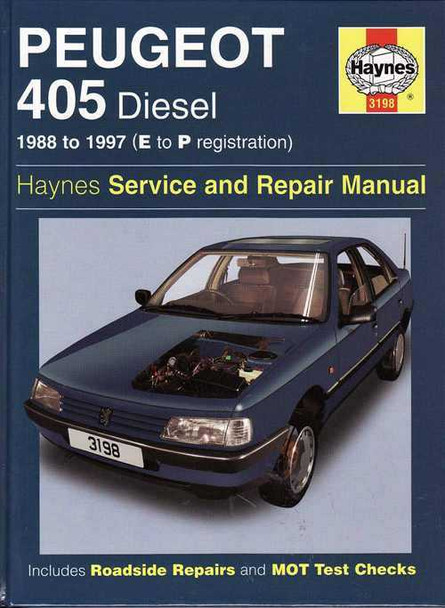 Peugeot 405 Diesel 1988 - 1997 Workshop Manual