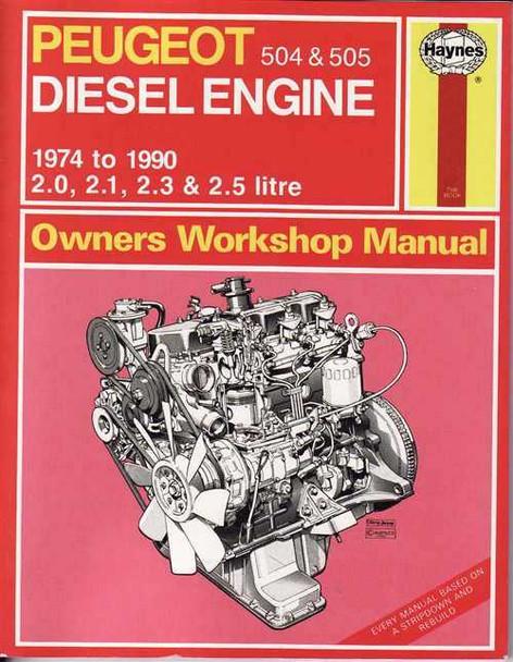 Peugeot 504 & 505 Diesel Engine 1974 - 1990 Workshop Manual