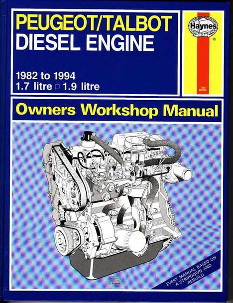 Peugeot / Talbot Diesel Engine 1982 - 1994 Workshop Manual