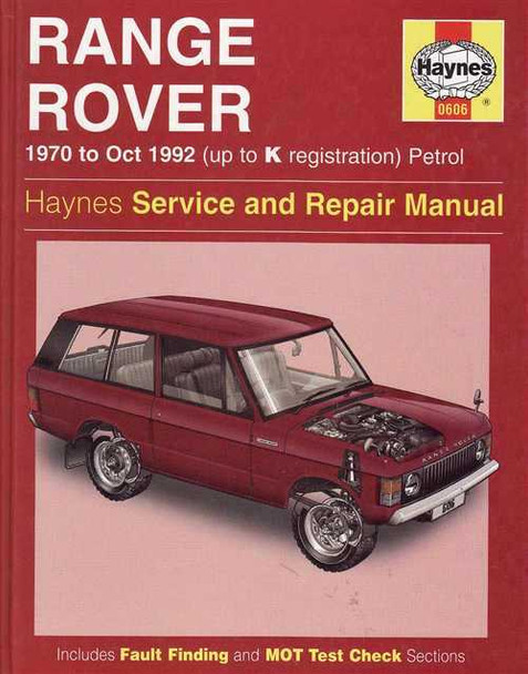 Range Rover 1970 - 1992 Workshop Manual