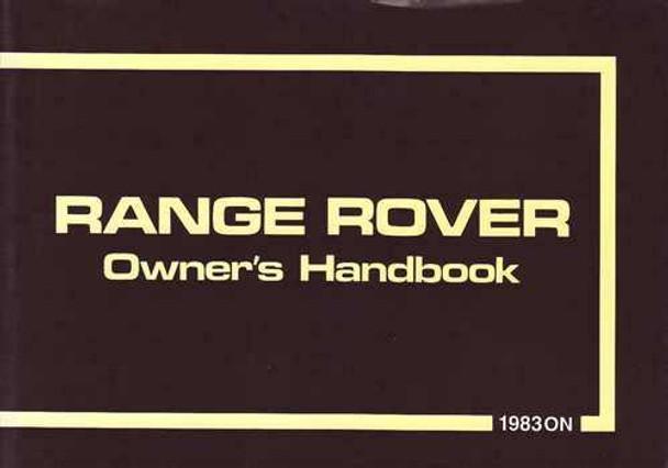 Range Rover 1983 on Owner's Handbook