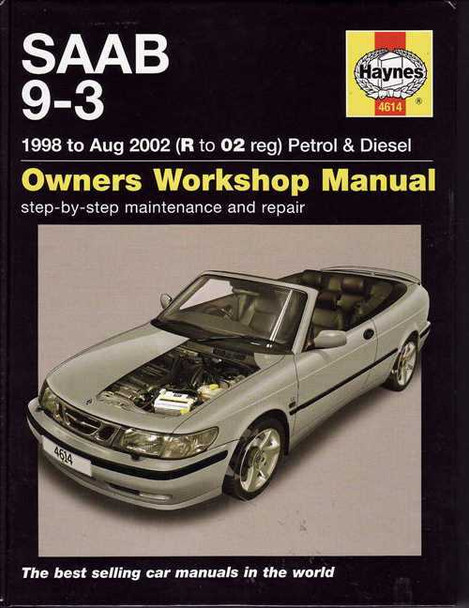 Saab 9 -3 1998 - 2002 Workshop Manual