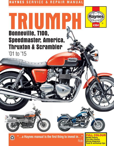Triumph Bonneville T100 Speedmaster America Thruxton Scrabmler  Workshop Manual