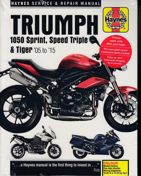 Triumph 1050 Sprint ST, Speed Triple & Tiger 2005 - 2015 Workshop Manual (9781785213564)