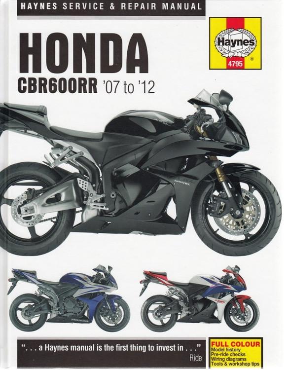 Honda CBR600RR 2007 - 2012 Repair Manual