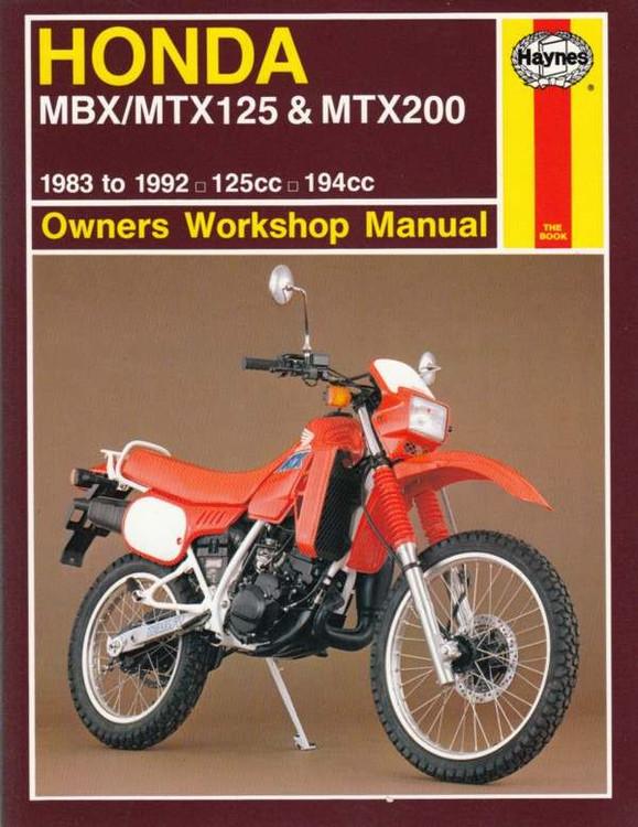 Honda MBX125, MTX125, MTX200 125cc, 194cc 1983 - 1992 Workshop Manual