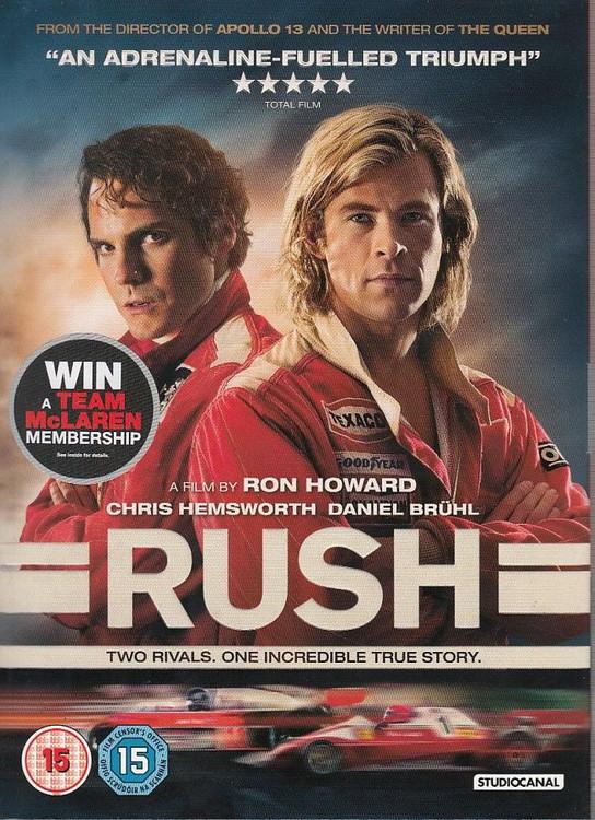 Rush Movie: Hunt vs Lauda DVD