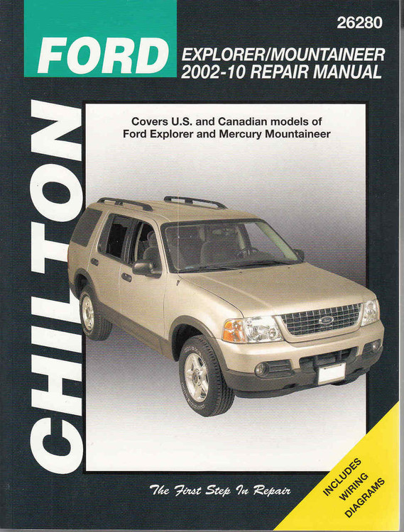 Ford Explorer / Mountaineer 2002 - 2010 Repair Manual Chiltons - front