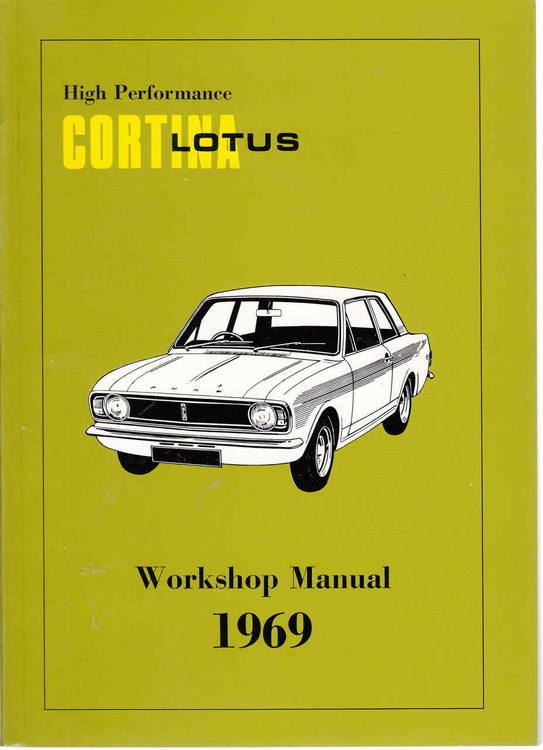 High Performance Lotus Cortina 1969 Workshop Manual - front