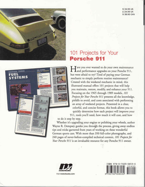 101 Projects for Your Porsche 911 - back