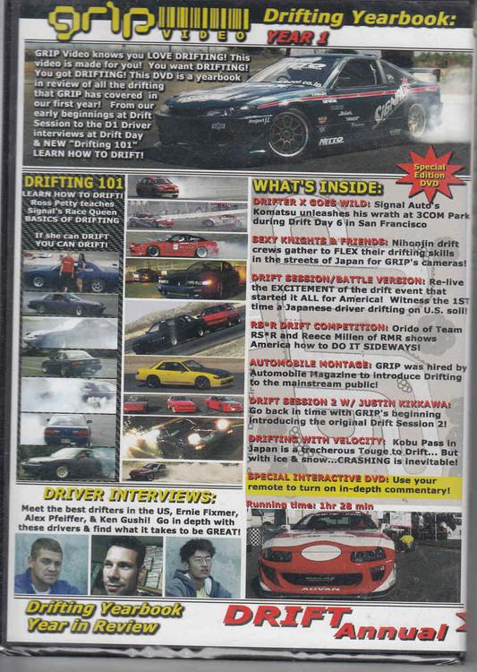 Drift Annual Drifting Yearbook Year 1 DVD Back