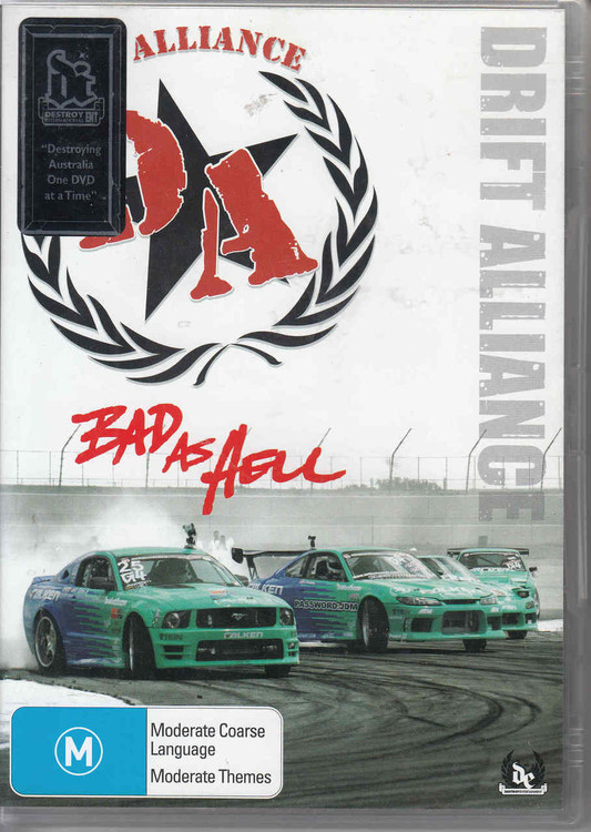 Bad As Hell Drift Alliance DVD (9330080005055)