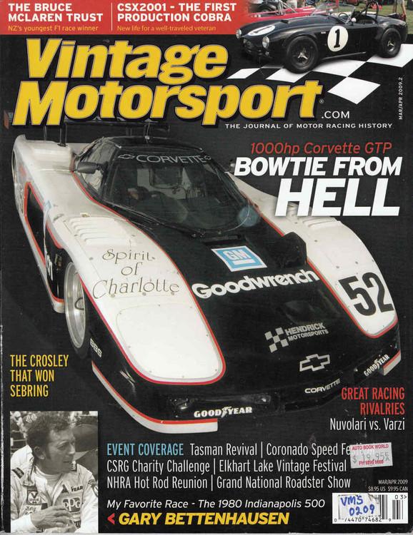 Vintage Motorsport Magazine Mar/Apr 2009 - The Journal of Motor Racing History