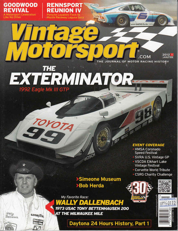 Vintage Motorsport Magazine Jan/Feb 2012 - The Journal of Motor Racing History