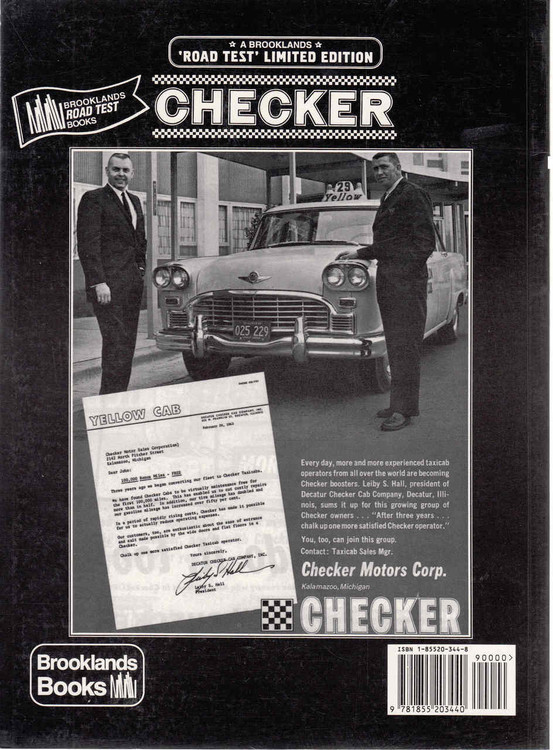 Checker Road Test Limited Edition Back