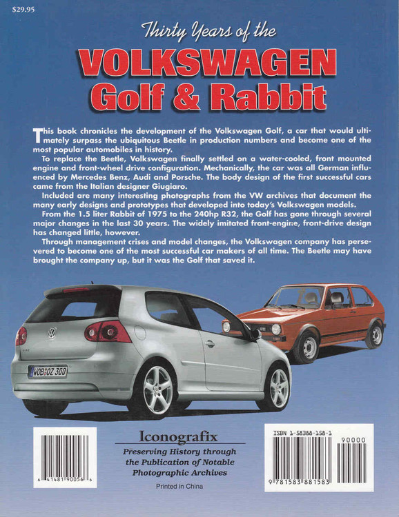 Thirty Years of the Volkswagen Golf & Rabbit (9781583881583) - back