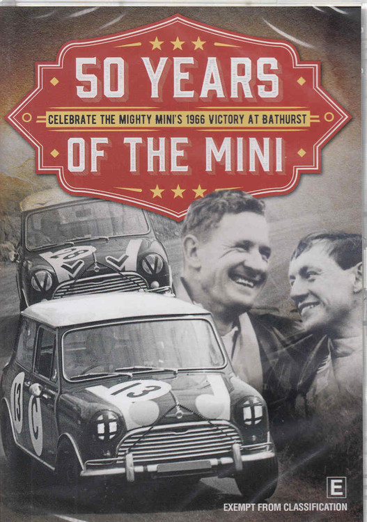 50 Years Of The Mini: Celebrate The Mighty Mini's 1966 Victory At Bathurst DVD (9340601001817) - front