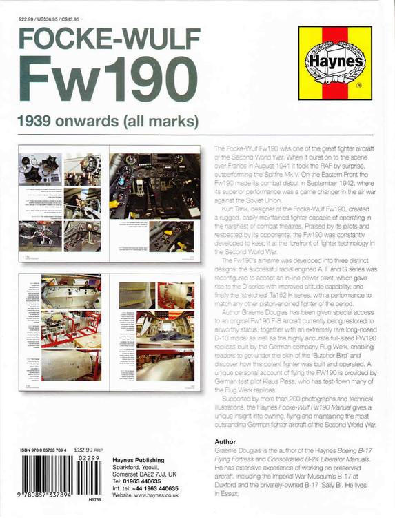 Focke-Wulf Fw190 1939-Onwards Owners Workshop Manual by Haynes ...
