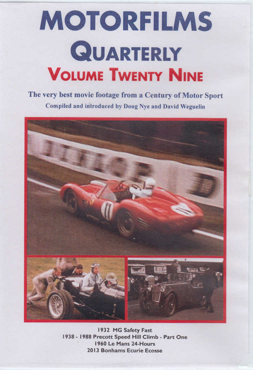 Motorfilms Quarterly Volume Twenty Nine DVD (DWPDVD3029)