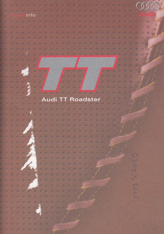 Audi TT Roadster - Press Info Kit 2002 (TTPRESSINFO)
