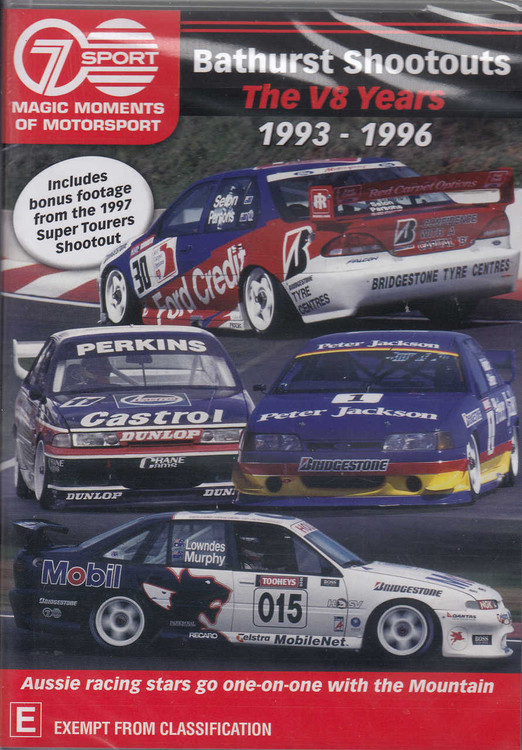 Bathurst Shootouts - The V8 Years 1993 - 1996 DVD (9340601001893)
