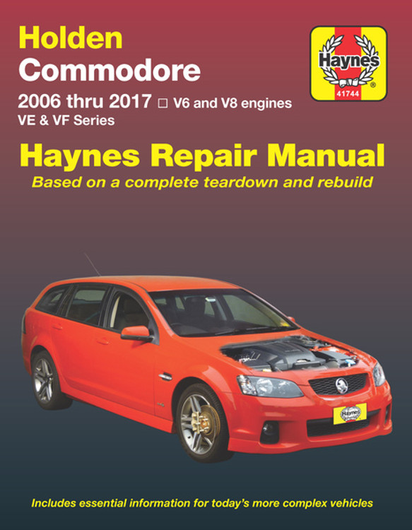 Holden Commodore 2006 Thru 2017 VE VF V6 And V8 Engines Series Repair Manual