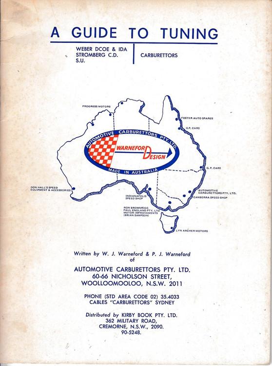 A Guide to Tuning Weber Dcoe & IDA, Strongberg C.D. , S. U. Carburettors (Warneford) (65CC15AC)