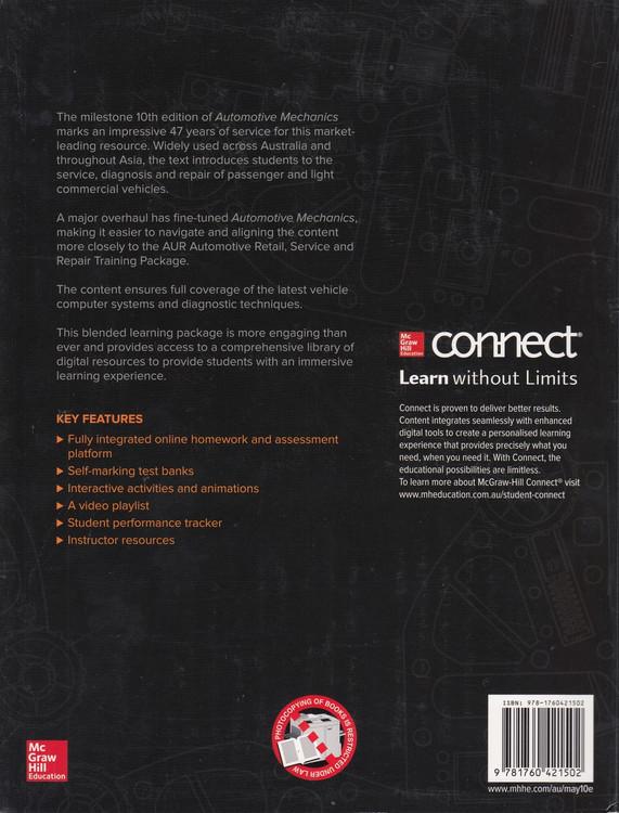 Automotive Mechanics 10th Edition (9781760421502)