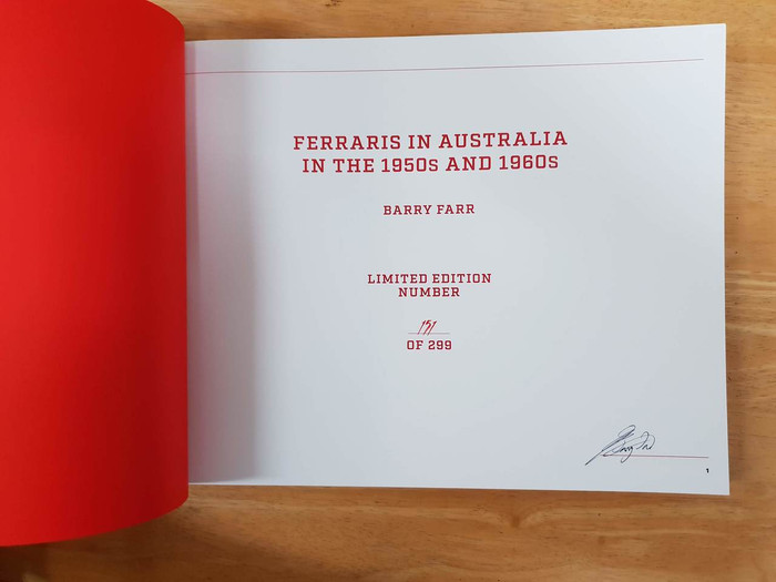 Ferraris in Australia in the 1950s and 1960s (Barry Farr)