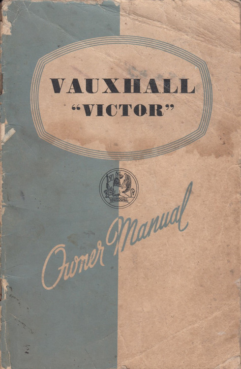 Vauxhall Victor Owner Manual 1957