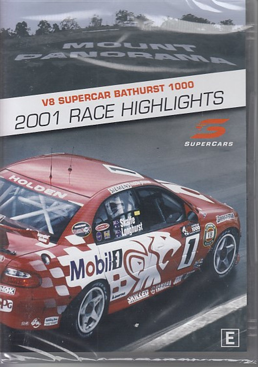 V8 Supercar Bathurst 1000 2001 Race Highlights DVD (9340601002166)