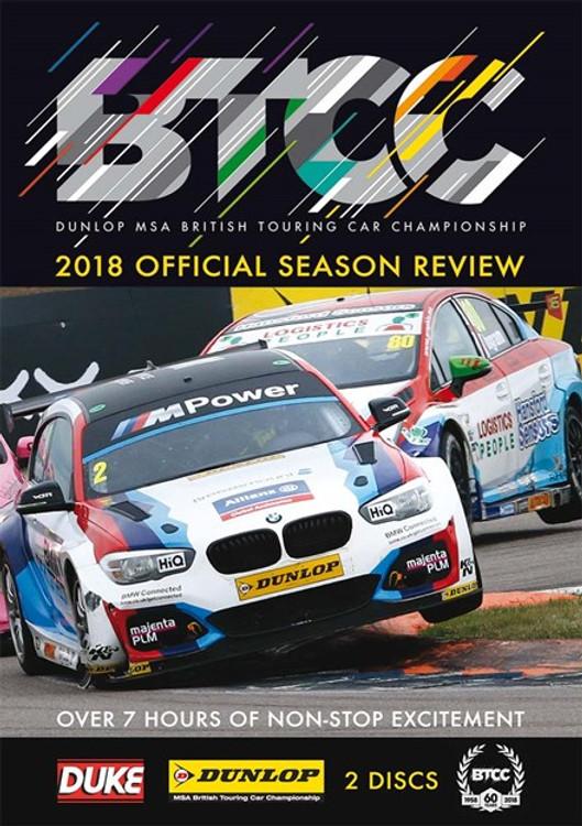 BTCC 2018 Official Season Review (2 Disc) 468 Mins DVD (5017559131371)