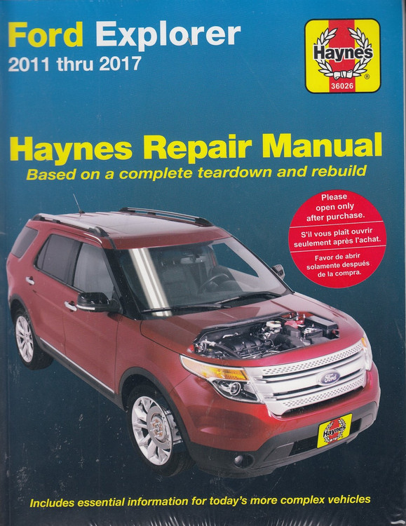 Ford Explorer 2011 - 2017 Haynes Workshop Repair Manual (9781620922859)