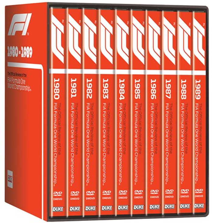 F1 1980 - 1989 - The Official Reviews of the FIA Formula One World Championship 10 DVD Box Set