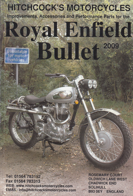 Royal Enfield Bullet 2009 Parts Catalogue (Hitchcock's Motorcycles) (RE2009)