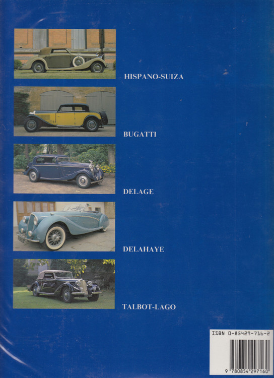 Les Grandes Routieres - France's Classic Grand Tourers (William Stobbs) Hardcover 1st Edn 1990 (9780854297160)
