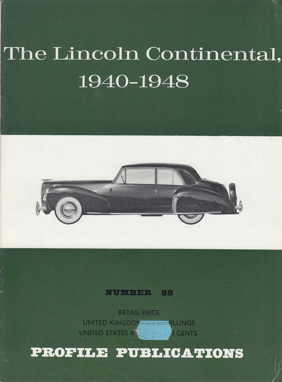 Car Profile Publications No 88 - The Lincoln Continental 1940-1948