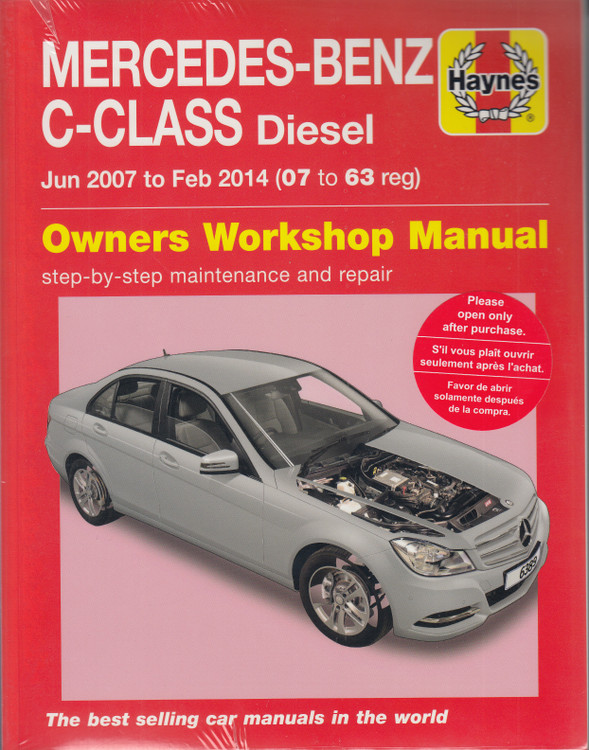 Mercedes-Benz C-Class Diesel 2007 - 2014 Workshop Manual