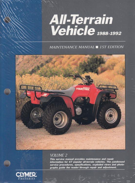 All-Terrain Vehicle 1988 - 1992 Volume 2 Clymer Maintenance Manual (9780872885141)