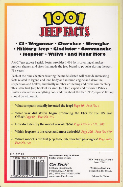 NEW! 1001 Jeep Facts