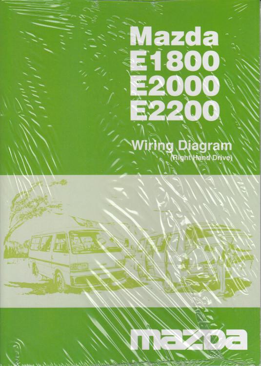 Mazda E1500, E2000, E2200 Wiring Diagram (Right Hand Drive) (50371084A)