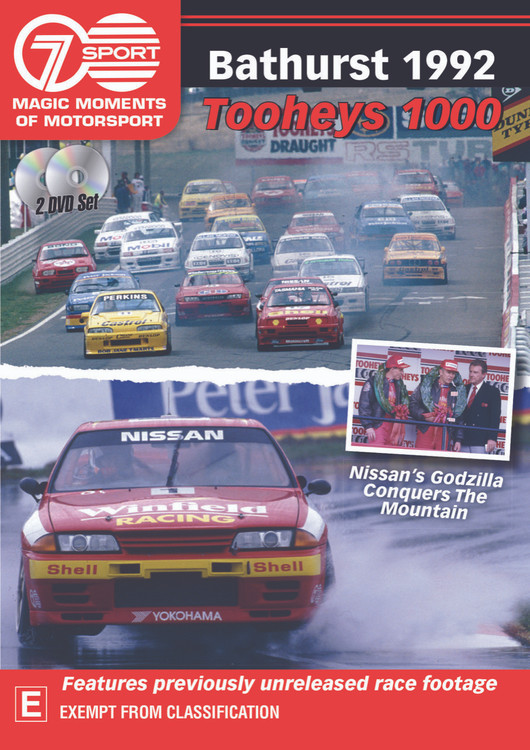 Bathurst 1992 Tooheys 1000 - Nissan's Godzilla Conquers The Mountain DVD (9340601002777)