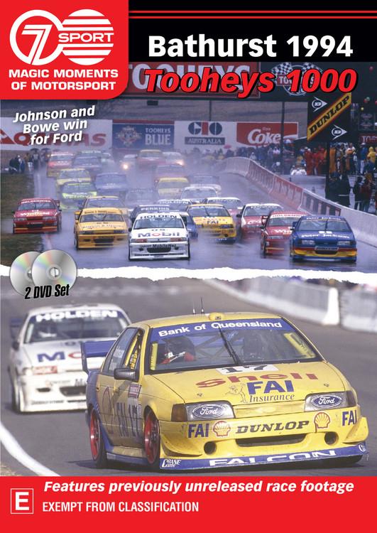 Bathurst 1994 Tooheys 1000 - Johnson and Bowe win for Ford DVD