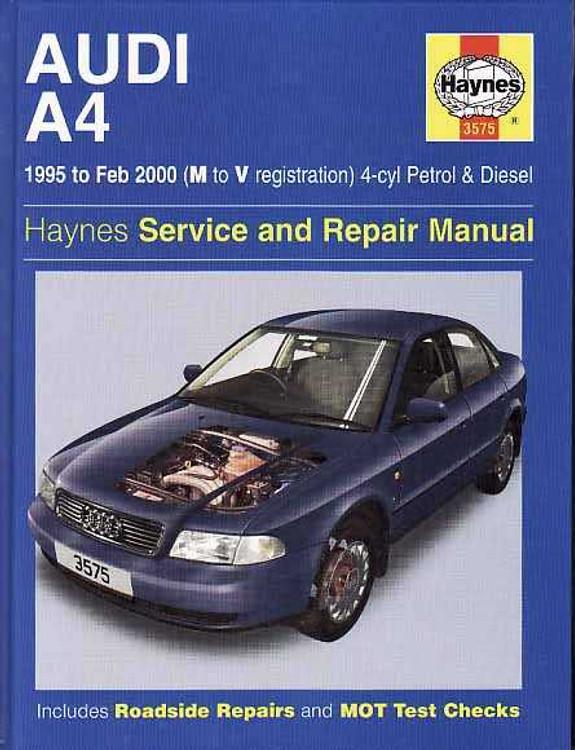 AUDI A4 1995 - 2000 Workshop Manual